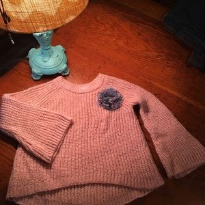 Sparkly pink oversize sweater